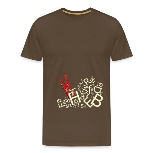 bogstavbunke gul - Men's Premium T-Shirt