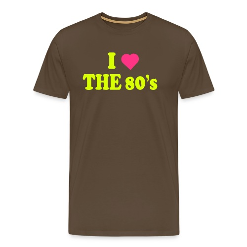 I love the 80's - Premium T-skjorte for menn