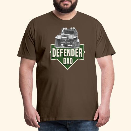 DAD defender LAND-ROVER GIFT - Männer Premium T-Shirt