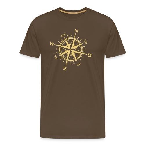 Kompass-1 - Männer Premium T-Shirt