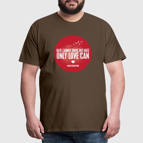 MLK1 png - Herre premium T-shirt