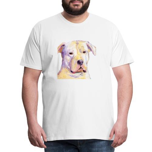 dogo argentino - Herre premium T-shirt
