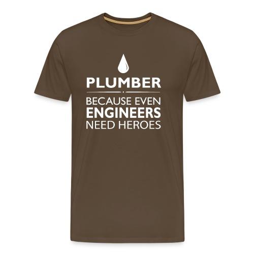 Plumber Engineers heroes - Männer Premium T-Shirt