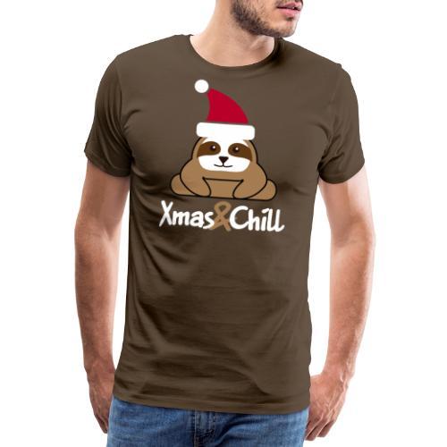 Faultier Weihnachten süß lustig Geschenk - Männer Premium T-Shirt