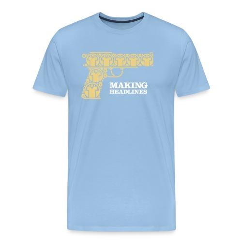 Making Headlines - Herre premium T-shirt