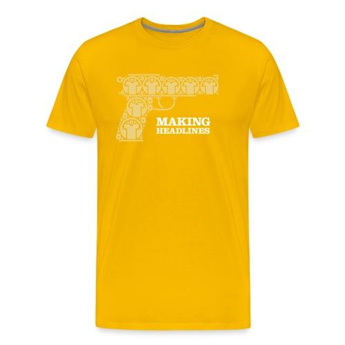 makingheadlines - Herre premium T-shirt