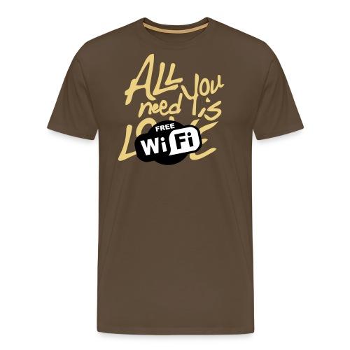 all you need is free WiFi - Camiseta premium hombre