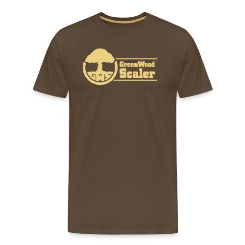 GreenWoodScaler logo mit schrift 03 - Männer Premium T-Shirt