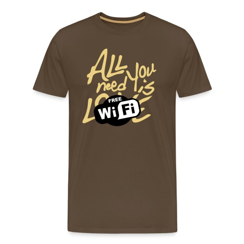 all you need is free WiFi - Camiseta premium hombre