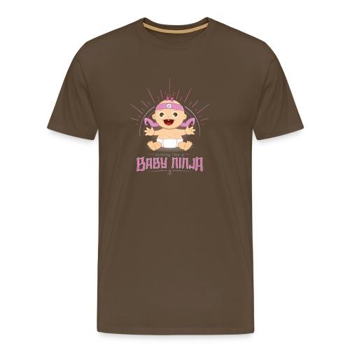 Baby Ninja - Rosa - Männer Premium T-Shirt