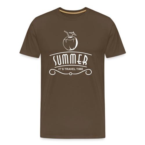 Sommer-Reisezeit - Männer Premium T-Shirt