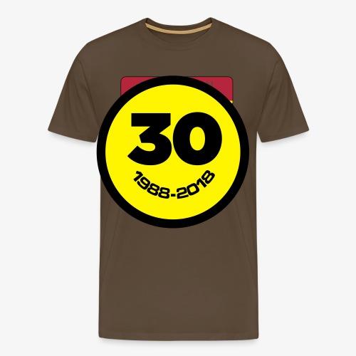 30 Jaar Belgian New Beat Smiley - Mannen Premium T-shirt