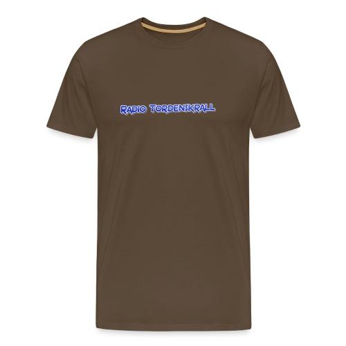 Radio Tordenskrall blå-logo! - Premium T-skjorte for menn