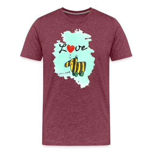 Janosch Tigerente Love Türkis SP - Männer Premium T-Shirt