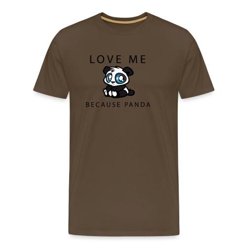 Fanartikel: Panda-Love - Männer Premium T-Shirt