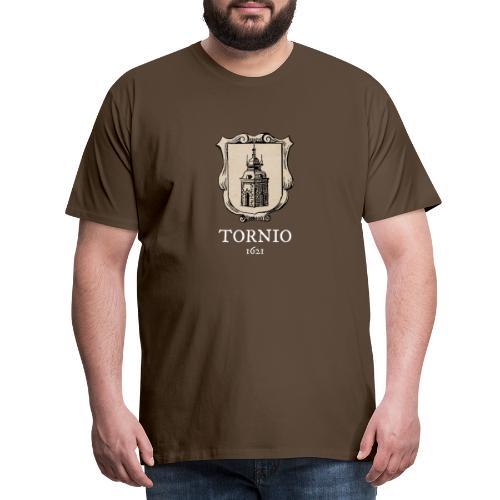 Tornio 1621 valkoinen teksti - Miesten premium t-paita