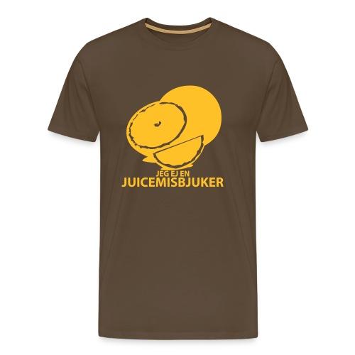 Jeg ej en juicemisbjuker! - Premium T-skjorte for menn