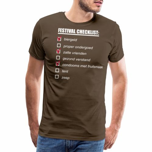 My Festival Checklist - Mannen Premium T-shirt