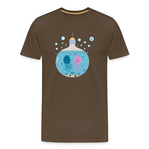 Quallen love 2 - Männer Premium T-Shirt
