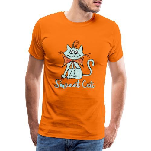 Katze blau Sweet - Männer Premium T-Shirt
