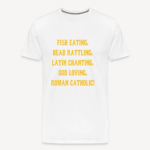FISH EATING BEAD RATTLING - Men's Premium T-Shirt