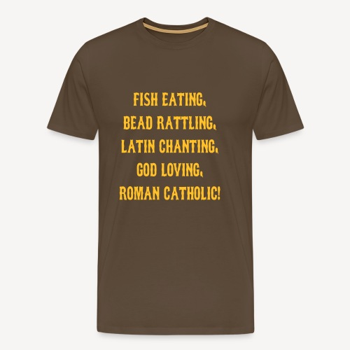 FISH EATING BEAD RATTLING - Men's Premium T-Shirt