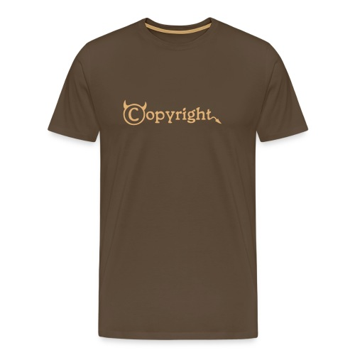 Copyright-Shirt-Black - Männer Premium T-Shirt