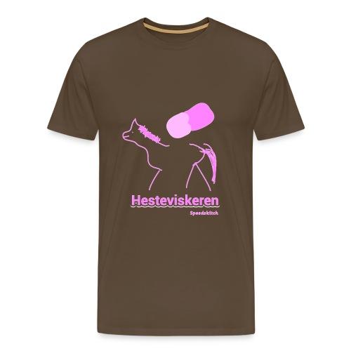 Hesteviskeren transparent rosa png - Premium T-skjorte for menn