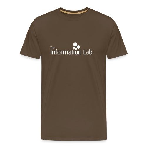 Info Lab Logo White - Men's Premium T-Shirt