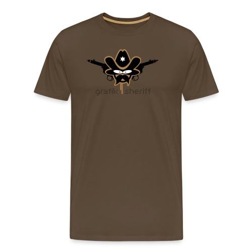 Grafik Sheriff schwarze Schrift - Männer Premium T-Shirt