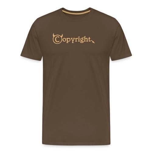 Copyright-Shirt-Black - Männer Premium T-Shirt