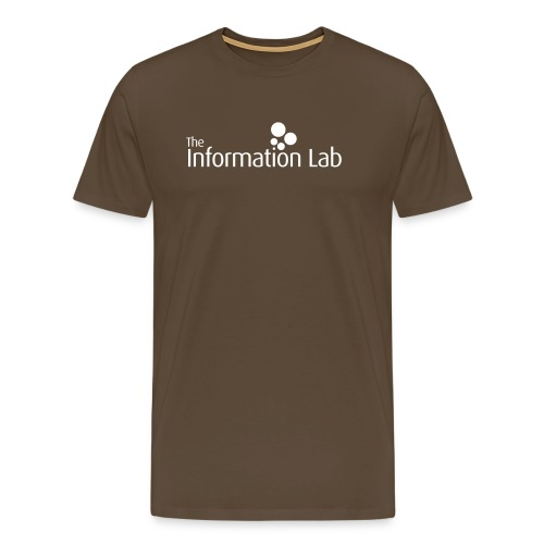 Info Lab Logo White - Men's Premium T-Shirt