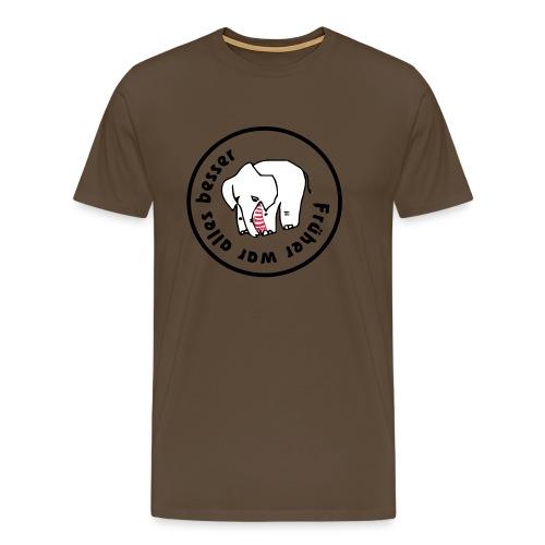 trauriger elefant 7 klein - Männer Premium T-Shirt