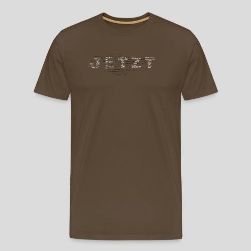 typo-sw - Männer Premium T-Shirt