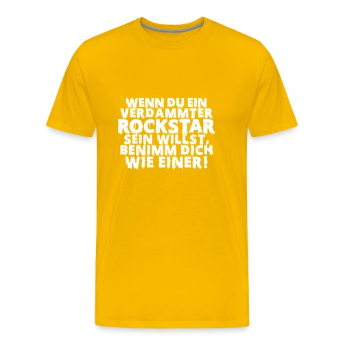 rock n roll Zitat Metal Bühne on stage - Men's Premium T-Shirt