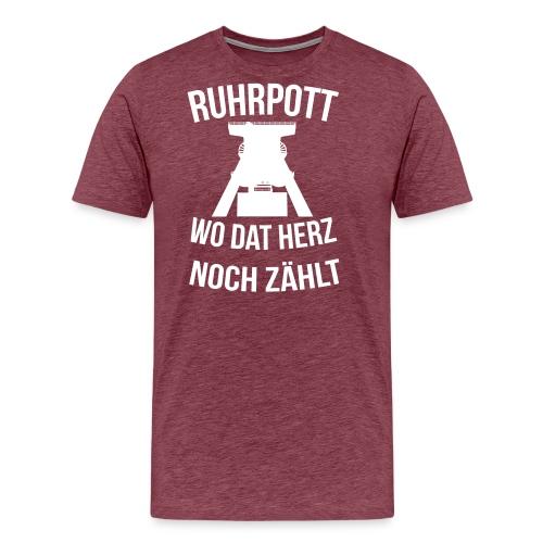 Ruhrpott - Wo dat Herz noch zählt - Männer Premium T-Shirt