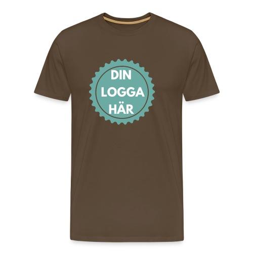 Egen Logga - Premium-T-shirt herr