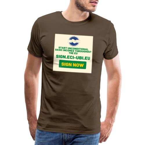 start unconditional basic incomes - Mannen Premium T-shirt