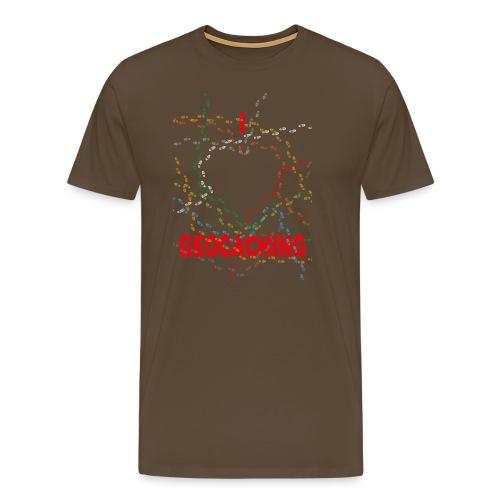 I Love Geocaching for children premium - Miesten premium t-paita