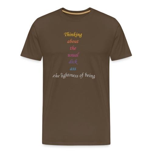 The lightness of being - Männer Premium T-Shirt