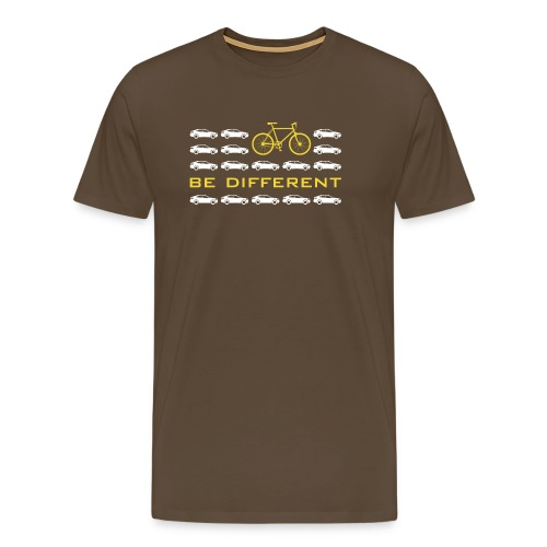 be different Auto Fahrrad Bike car anders einzig - Men's Premium T-Shirt