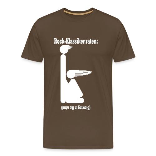 Blowing in the wind - weiss - Männer Premium T-Shirt