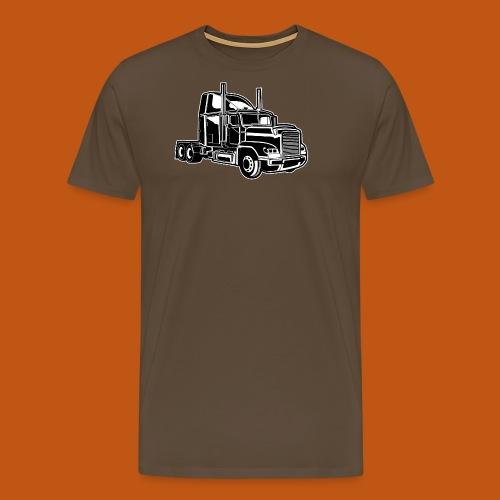 Truck / Lkw 02_schwarz weiß - Männer Premium T-Shirt