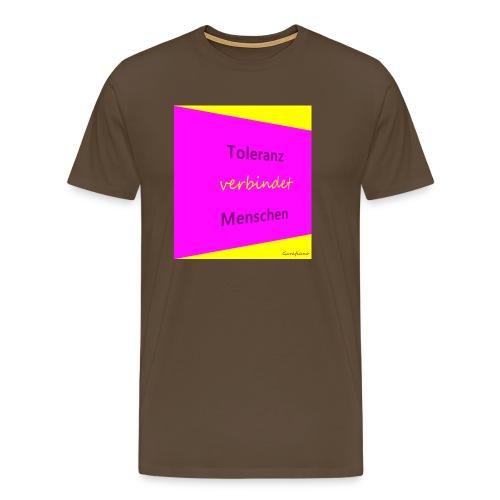 Toleranz rosa schraeg.JPG - Männer Premium T-Shirt