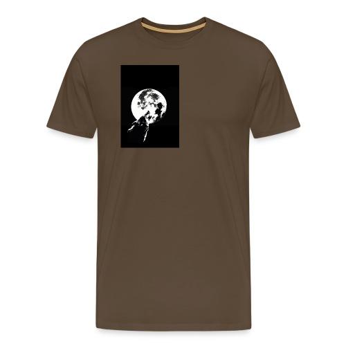 El Lobo y la Luna - Camiseta premium hombre