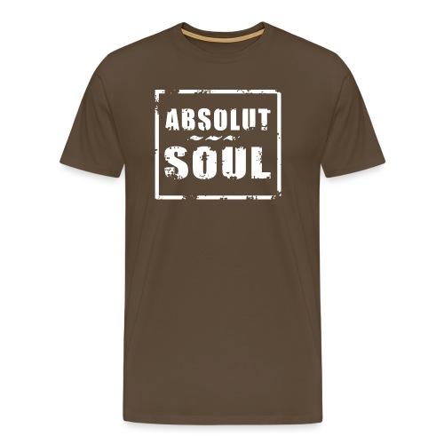 Absolut Soul weiss - Männer Premium T-Shirt