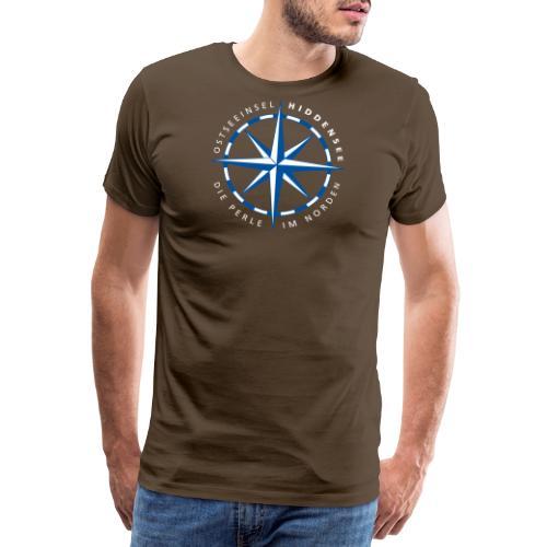 Windrose Hiddensee - Männer Premium T-Shirt