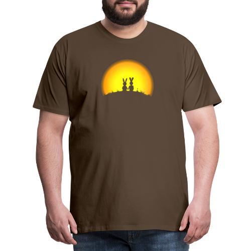 hase kaninchen Karnickel häschen bunny liebe - Männer Premium T-Shirt