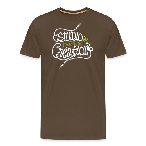 test lettrage studio création 2 png - T-shirt Premium Homme
