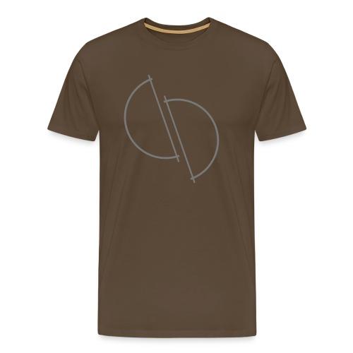 ediplace logo line art - Premium-T-shirt herr